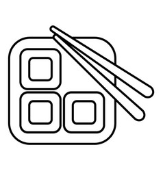 sushi icon outline line style vector image vector image