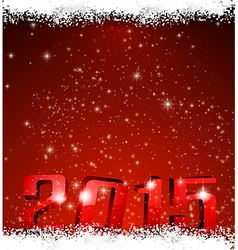 2015 new year red background vector image