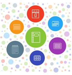 7 organizer icons vector