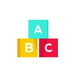 abc cubes blocks vector image