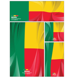 abstract benin flag background vector image