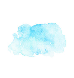 Abstract blue watercolor stain vector