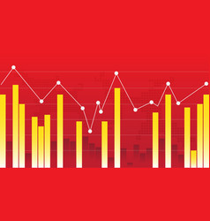 abstract financial chart vector image