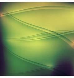 abstract green background with waves vector image