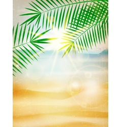 Abstract summer poster with beach vector