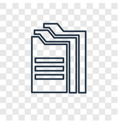 Archives concept linear icon isolated on vector