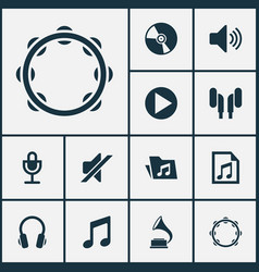 audio icons set collection of music sound vector image