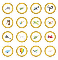Aviation icon circle vector