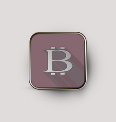 Bit coin logo in square vector
