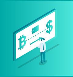 blockchain seminar man vector image