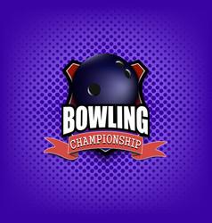 Bowling logo template design vector