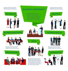Business People Group Infographics vector