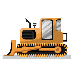 cartoon style yellow loader on white background vector image