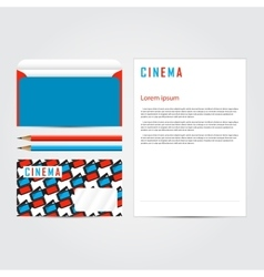 Cinema 3d corporate identity template set vector