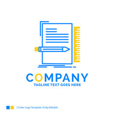 Code coding file programming script blue yellow vector