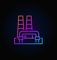 colorful geothermal power plant icon vector image