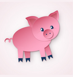 cute pig character vector image
