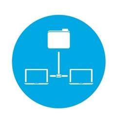 data center storage icon image vector image