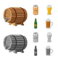 design of pub and bar logo collection of vector image