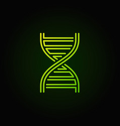 Dna green concept logotype or icon vector