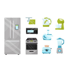 flat set of kitchen electronic appliances vector image