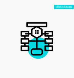 Flowchart flow chart data database turquoise vector
