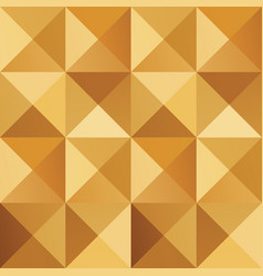 geometric simple golden colored seamless pattern vector image