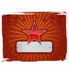 grunge star vector image