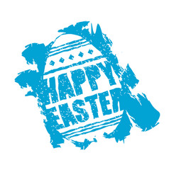 Happy easter emblem egg symbol religion holiday vector