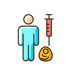 Human cell testing rgb color icon vector