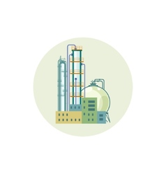 Icon a chemical plant or refinery processing vector