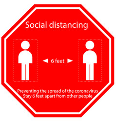 Icon people concept social distancing stay 6 feet vector