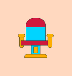 In flat style movie seat vector