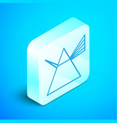 isometric line light rays in prism icon isolated vector image