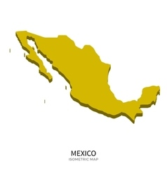 Isometric map mexico detailed vector