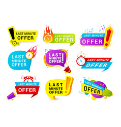 last minute offer realistic vector image