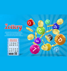 Lottery banner bingo game background vector