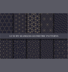 Luxury seamless ornamental patterns - geometric vector