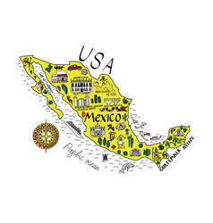 Map of mexico with the main vector