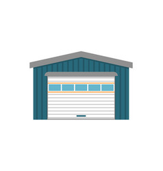 Modern storehouse building facade isolated icon vector