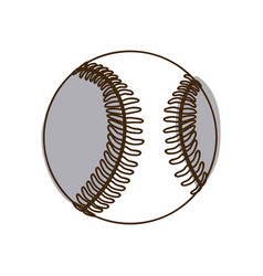 Monochrome silhouette baseball ball element sport vector