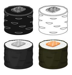 Norimaki icon in cartoon style isolated on white vector