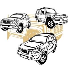 Off-Road Cars - set vector