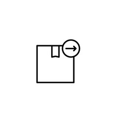 package send icon vector image