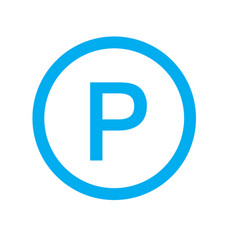 parking icon on white background parking sign vector image