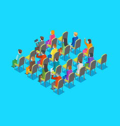 Politician business audience concept 3d isometric vector