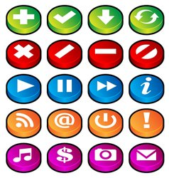 puck button icons vector image