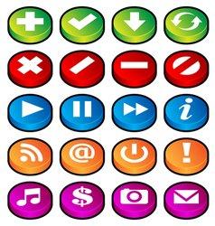 Puck button icons vector