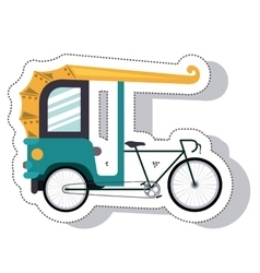 Rickshaw service isolated icon vector