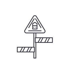 road sign line icon concept road sign vector image